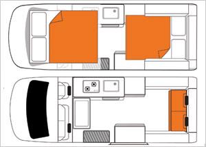 4 bett wohnmobil ohne dusche und toilette. Black Bedroom Furniture Sets. Home Design Ideas