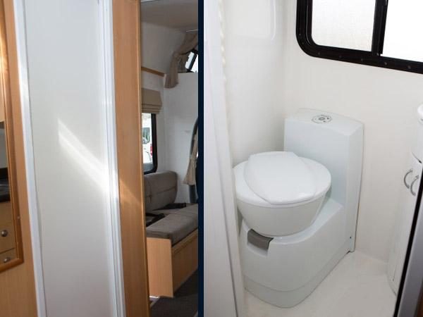 Mobile Dusche Nasszelle : Bett Wohnmobil von Touring New Zealand